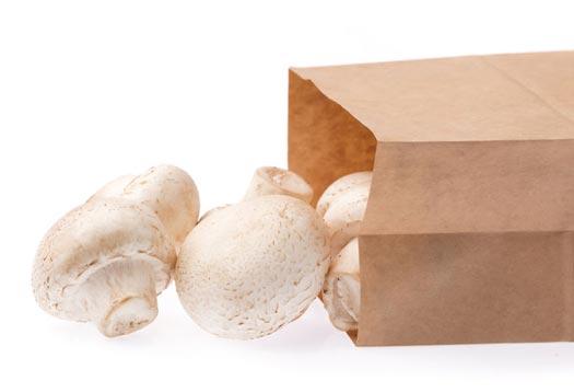 mushrooms in bags