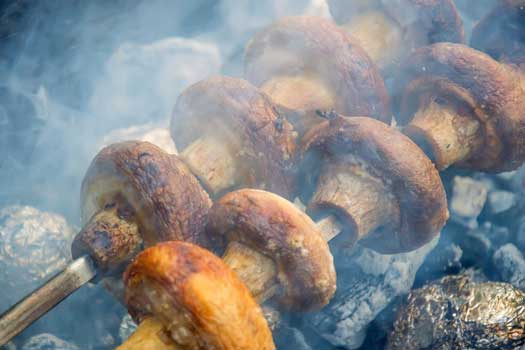 Mushrooms Barbeque